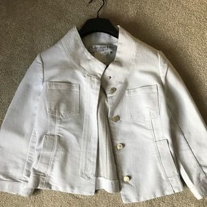 Christian Dior white denim jacket
